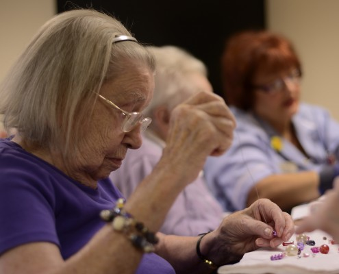 Residents sewing