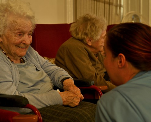 Staff with residents